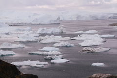 伊卢利萨特Icefjord格陵兰 免版税图库摄影