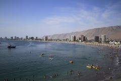 伊基克,智利城市视图  免版税库存图片