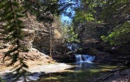 伊塔卡, NY瀑布 免版税图库摄影