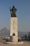 伊太阳申英澈,韩国海军司令员雕象,著名为他的比克 库存图片
