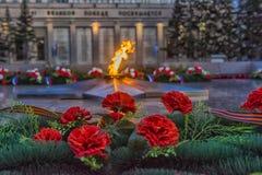 伊尔库次克纪念永恒火焰 免版税库存照片