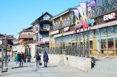 伊尔库次克,俄罗斯, 2017年3月, 03日 餐馆`在伊尔库次克抬头在旧式的130 Th处所的` 免版税库存照片