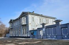 伊尔库次克,俄罗斯, 2017年3月, 16日 伊尔库次克地方历史和纪念Decembrists `博物馆 Volkonsky家博物馆  库存照片