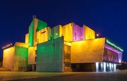 伊尔库次克,俄罗斯, 6月2013音乐厅命名了Zagurskiy 圣诞节城市神仙的拉脱维亚晚上地方上的短期相似的传说 免版税库存照片