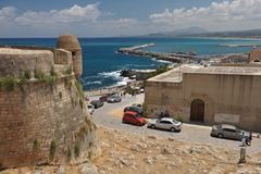 伊拉克利翁口岸,克利特希腊 免版税库存照片