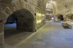 伊拉克利翁,克利特/希腊 堡垒` Koules `的内部看法 库存图片