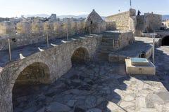 伊拉克利翁,克利特/希腊 堡垒Koules的屋顶视图 库存图片