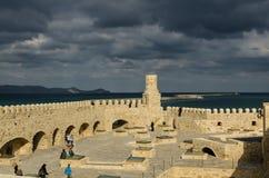伊拉克利翁,希腊- 2017年11月:她的老威尼斯式堡垒 库存图片