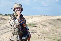 伊拉克士兵 免版税库存照片