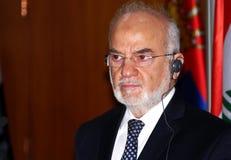 伊拉克外长在正式访问的易卜拉欣博士Al Jaafari到共和国塞尔维亚 库存图片