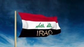 伊拉克旗子与标题的滑子样式 挥动在