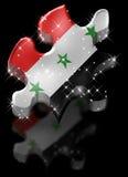 伊拉克难题星形影子 免版税库存照片