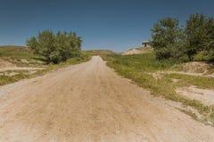 伊拉克风景在夏天 免版税库存图片
