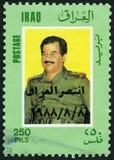 伊拉克- 1986年:显示萨达姆・侯赛因Abd AlMajid AlTikriti画象1937-2006 库存照片