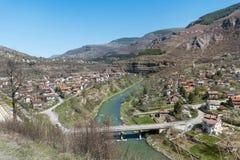 伊斯克尔河在保加利亚 从iskar峡谷的美好的风景 免版税库存图片
