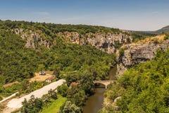 伊斯克尔Karlukovo,保加利亚峡谷和村庄  免版税库存图片