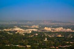 伊斯兰堡,巴基斯坦全景  库存图片