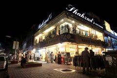 伊斯兰堡,巴基斯坦街道场面在晚上 免版税库存照片