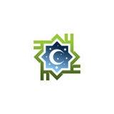 伊斯兰徽标 库存照片