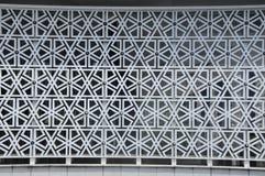 伊斯兰教的几何墙壁样式 马来西亚a的全国清真寺 K Masjid Negara 库存图片