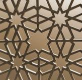 伊斯兰教的几何样式 库存照片