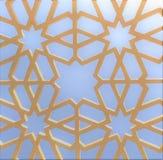 伊斯兰教的几何蓝蓝样式 库存照片