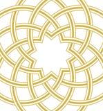 伊斯兰教的圆顶金黄背景 库存图片