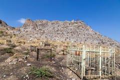 伊斯兰教的坟园在奥什,吉尔吉斯斯坦 免版税库存照片