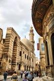 伊斯兰教的埃及开罗街道视图 免版税库存照片