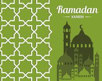 伊斯兰教的庆祝的抽象`赖买丹月Kareem `例证 免版税库存图片
