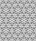 伊斯兰教的无缝的传染媒介样式 根据传统阿拉伯艺术的白色几何装饰品 东方回教马赛克 库存图片