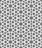 伊斯兰教的无缝的传染媒介样式 根据传统阿拉伯艺术的白色几何装饰品 东方回教马赛克 图库摄影