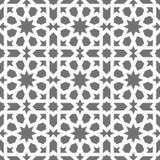 伊斯兰教的无缝的传染媒介样式 根据传统阿拉伯艺术的白色几何装饰品 东方回教马赛克 皇族释放例证
