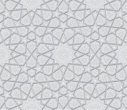 伊斯兰教的星装饰品浅灰色的背景 库存照片