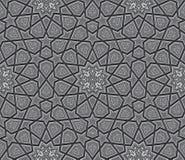 伊斯兰教的星装饰品深灰背景 免版税库存照片