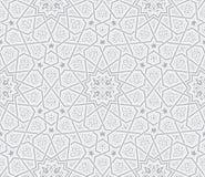 伊斯兰教的星装饰品灰色背景 免版税库存照片