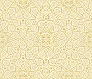 伊斯兰教的星装饰品金黄背景 免版税库存图片