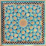 伊斯兰教的样式几何装饰蔓藤花纹在伊朗 库存图片