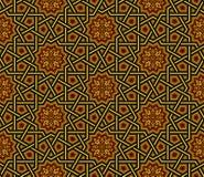 伊斯兰教的样式,金黄&黑墙纸, 库存照片