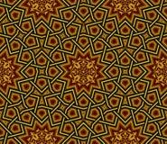 伊斯兰教的样式,金黄&黑墙纸 库存图片