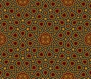 伊斯兰教的样式,金黄&黑墙纸 免版税库存照片