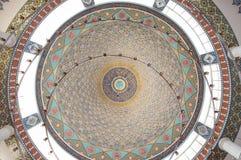 伊斯兰教的清真寺圆顶天花板 库存图片