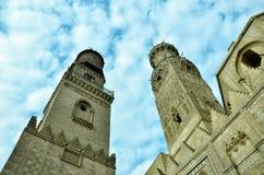 伊斯兰教的清真寺尖塔 库存图片