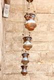 伊斯兰教的灯笼在老清真寺在开罗在埃及 库存照片