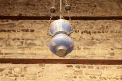 伊斯兰教的灯笼在老清真寺在开罗在埃及 库存图片