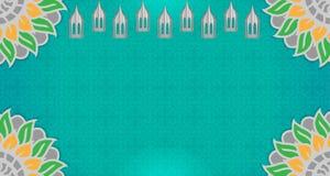 伊斯兰教的背景是空的 绿色渐进性优势 有吸引力的颜色梯度 库存照片