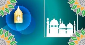 伊斯兰教的背景模板 与宗教伊斯兰教的样式的空的框架 库存图片