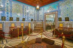 伊斯兰教的艺术在Manial宫殿,开罗,埃及 库存图片