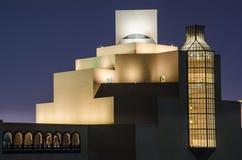 伊斯兰教的艺术多哈,卡塔尔博物馆  图库摄影