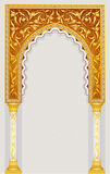 伊斯兰教的艺术曲拱 库存照片
